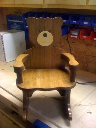 Customer Submitted Project Teddy Bear Rocking Chair