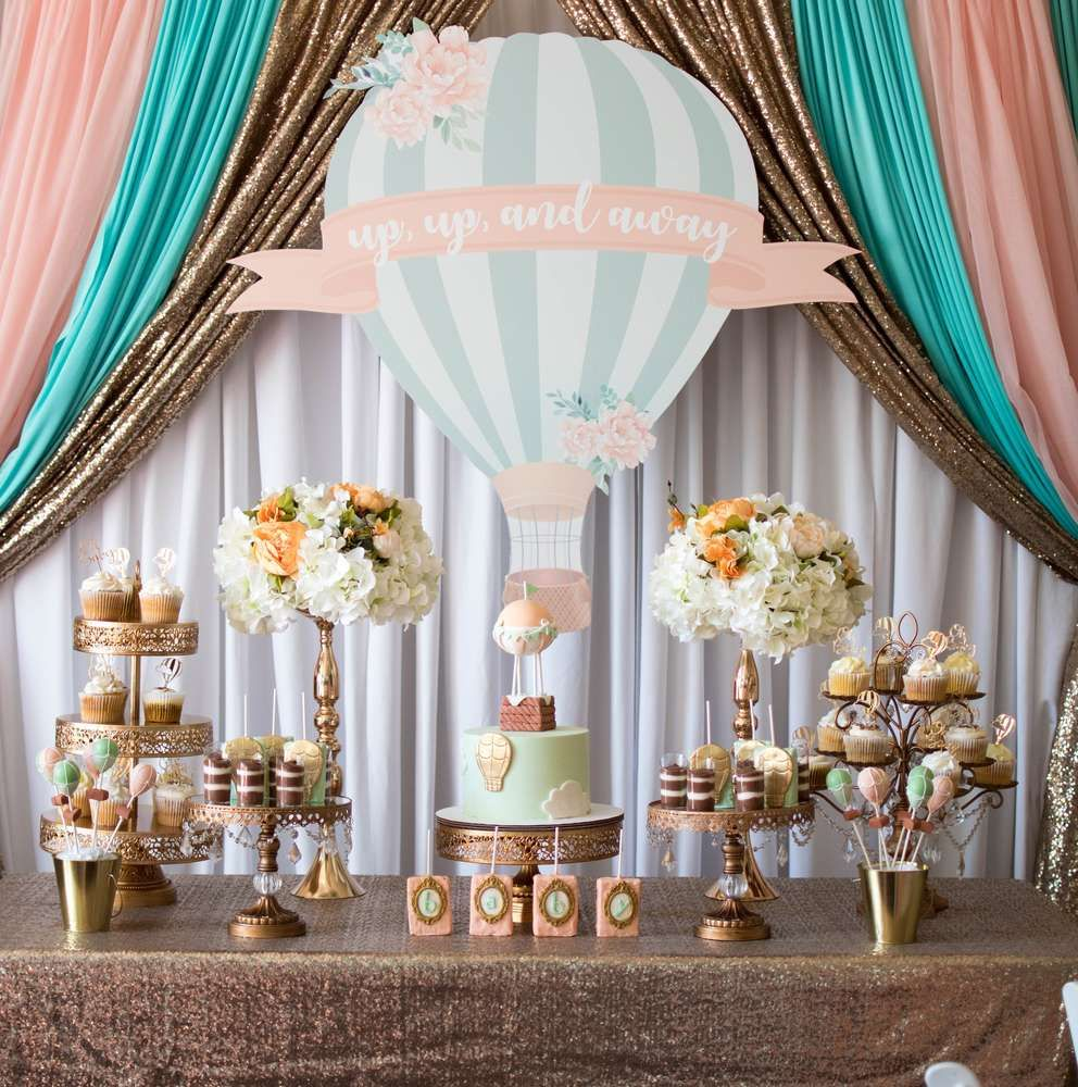 Hot Air Balloon Baby Shower Party Ideas Hot Air Balloon Baby