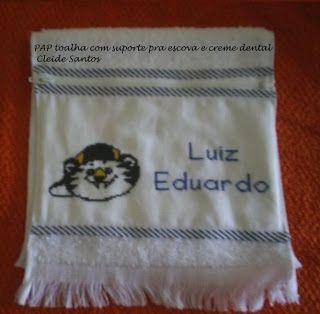 Paty Artes.com: Pap de toalha de mão com zíper!