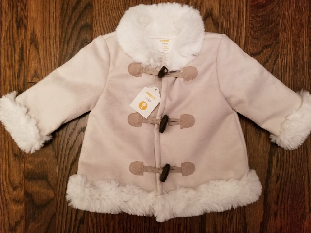 1ab34c8e425ed Gymboree Girls Faux Suede soft furry lining off-white jacket coat size 3-6  month  fashion  clothing  shoes  accessories  babytoddlerclothing ...