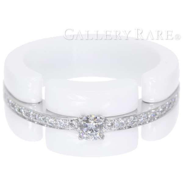 78eeaf83450b シャネル リング ウルトラコレクション ダイヤモンド ホワイトセラミック K18WGホワイトゴールド リングサイズ60 CHANEL ジュエリー 指輪
