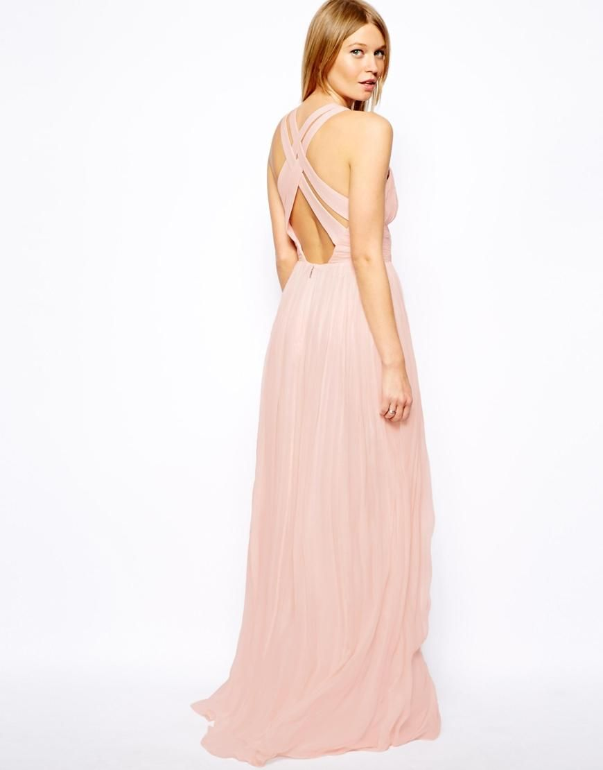 Mango | Mango Cross Back Maxi Dress at ASOS | Bridesmaid | Pinterest
