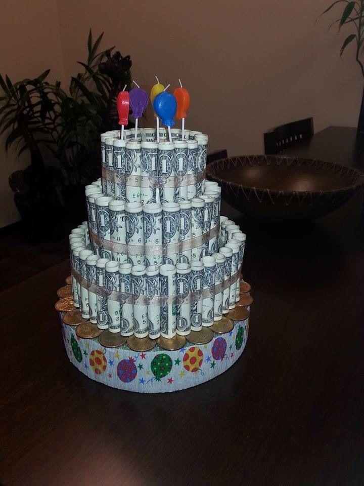 Brilliant Money Birthday Cake Money Birthday Cake Gift Cake Birthday Money Personalised Birthday Cards Veneteletsinfo
