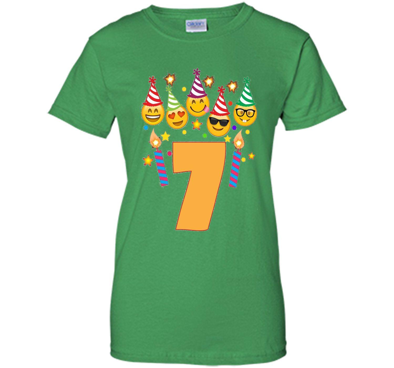 Emoji birthday shirt for seven year old girl boy toddler tshirt