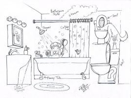 Draw Bathroom Stuff By Diana Huang