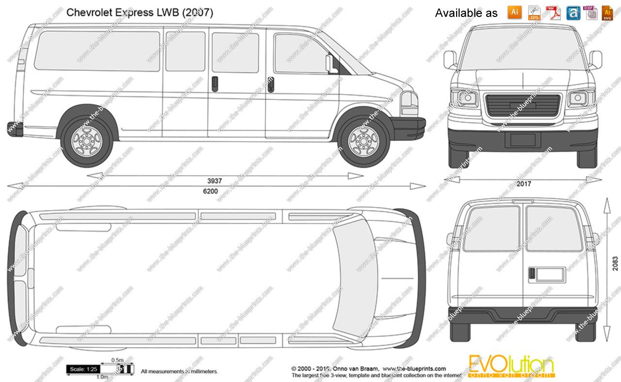 Image Result For Chevy Express Cargo Van Dimensions Cargo Van
