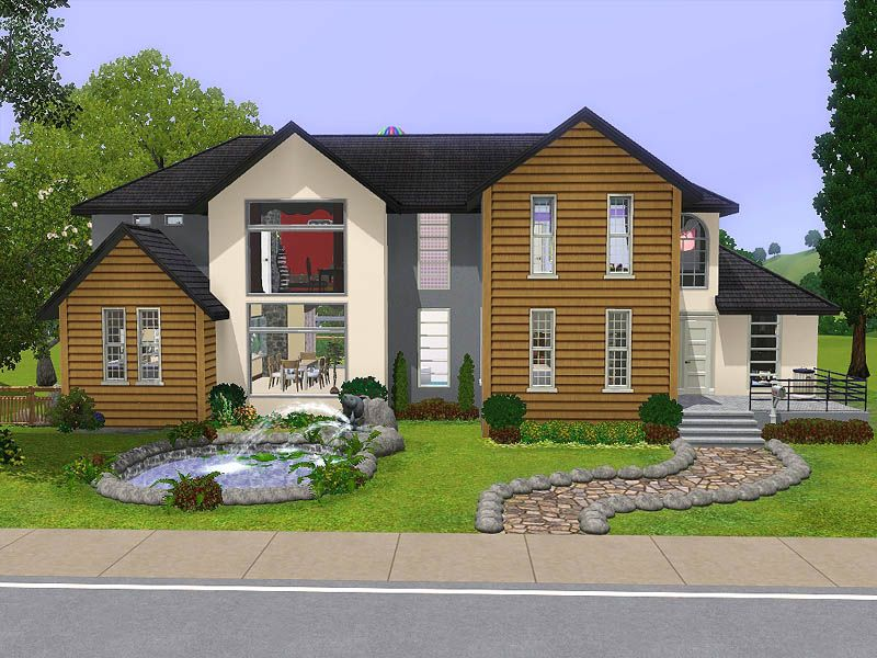 This House Is For A Family Of About 4 To 5 Sims Description From Pinterest Com I Searched For This On Bing Com Sims House Design Sims House Plans Sims House