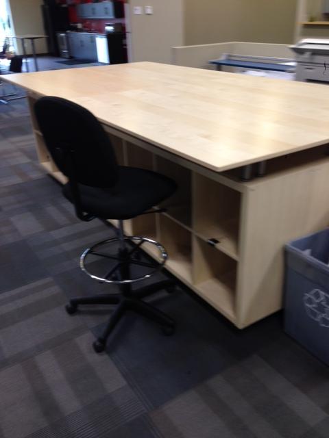 Kallax And Galant Engineering Layout Table S Ikea Hackers Kallax Ikea Craft Table Ikea Sewing Room Design