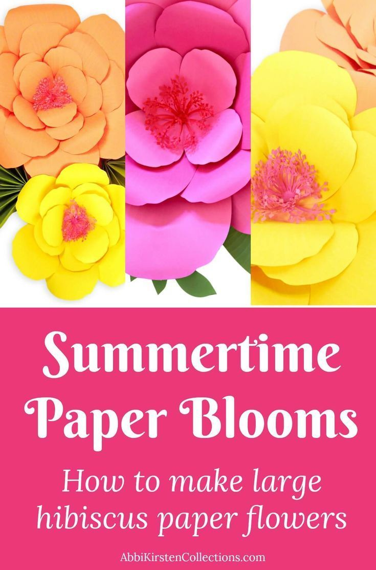 Giant Paper Flower Tutorials Diy Large Hibiscus Flowers