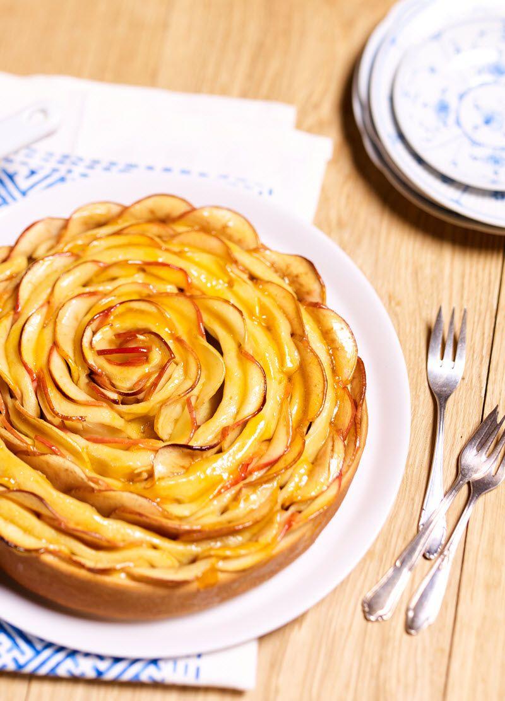 Apfelrosetten Kuchen Rezept Apfelkuchen Rezepte Kuchen Kuchen