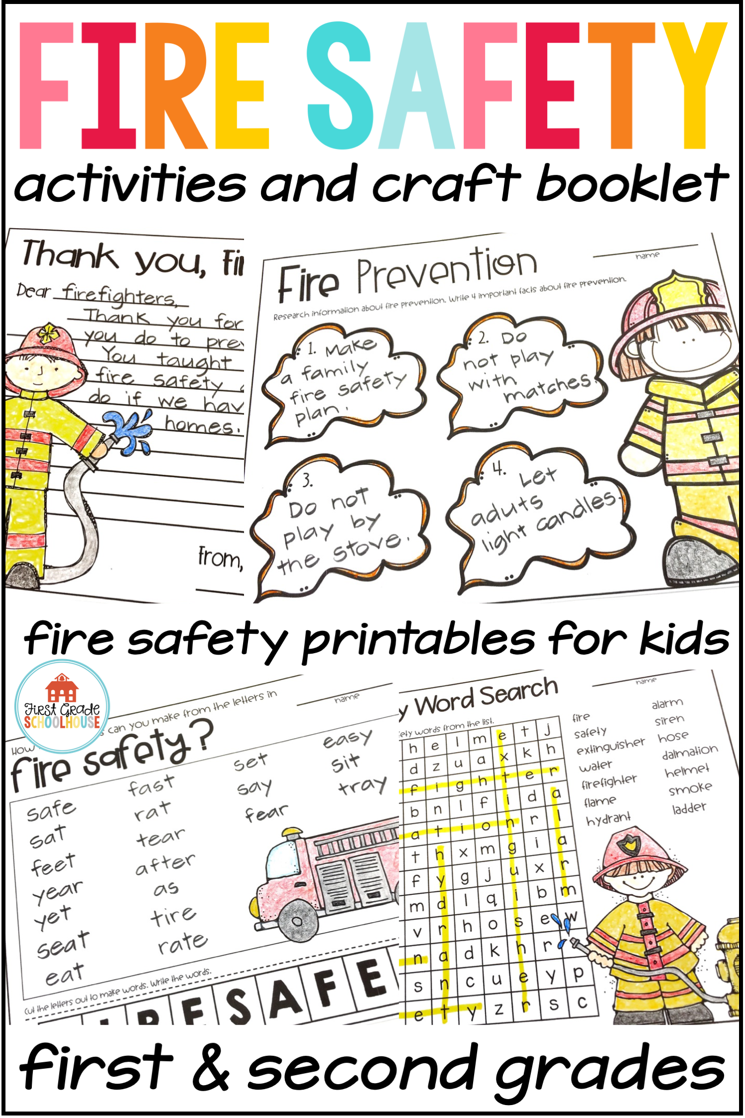 Fire Safety Activities And Craft Booklet