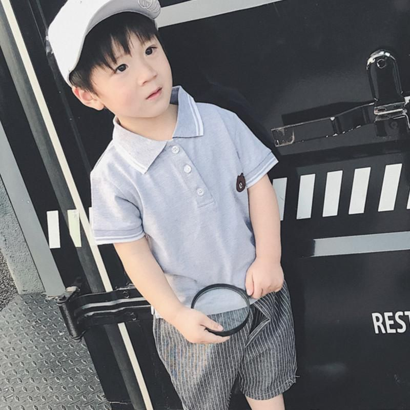 9d5721cd 2017 Top quality boys girls polo shirt for kids brand baby little toddler  big boy clothes