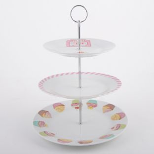 Buy Retro Treats 3 Tier Cake Stand at Argos.co.uk - Your Online : plate stand argos - pezcame.com