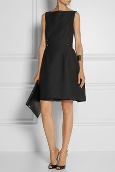 LANVIN Wool-blend grosgrain dress