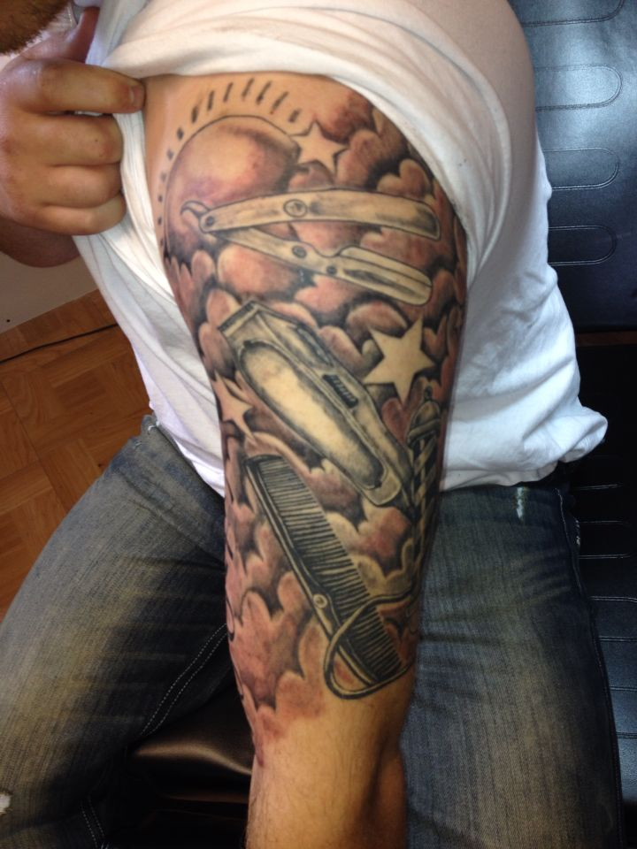 Barber Tattoo Sleeve