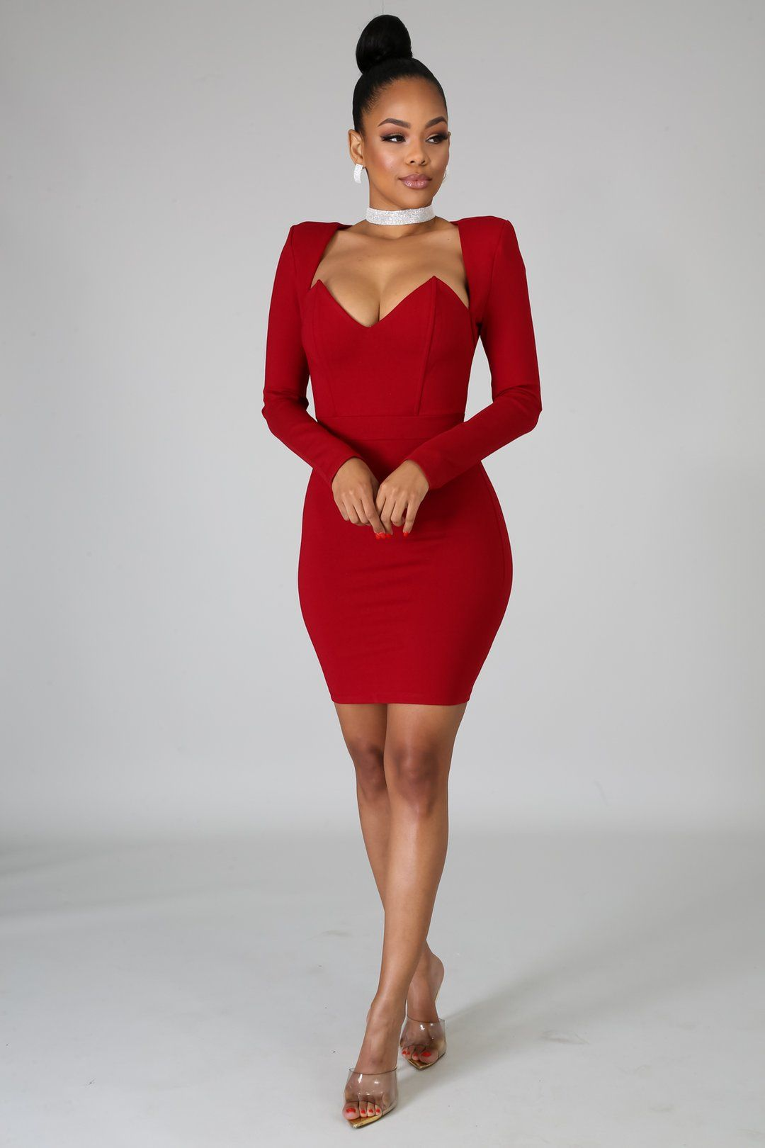 Baddie Body Con Dress Style 4190descriptionthis Baddie Body Con Dress Features A Stretchy Fabric V Neckl In 2021 Bodycon Dress Red Bodycon Dress Party Dress Classy [ 1620 x 1080 Pixel ]