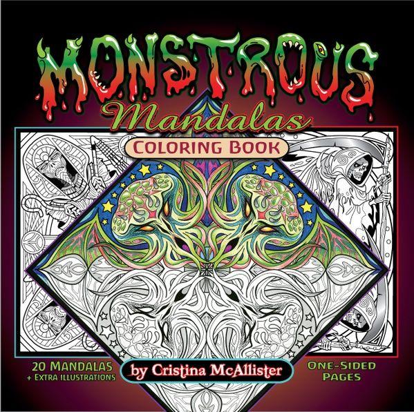 New Print Your Own Coloring Book 95 Monstrous Mandalas Print