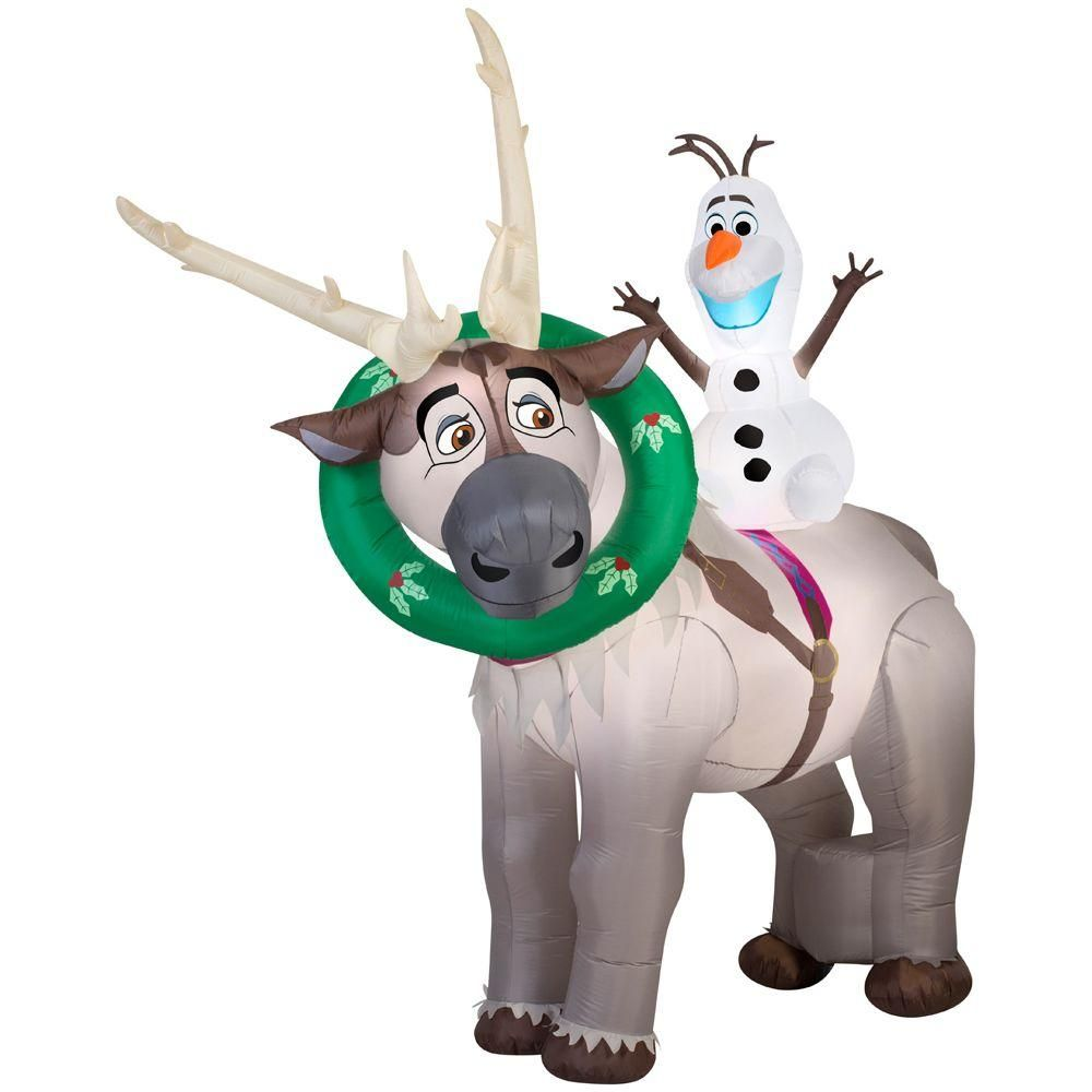 Disney Frozen Sven And Olaf Christmas Airblown Inflatable ...