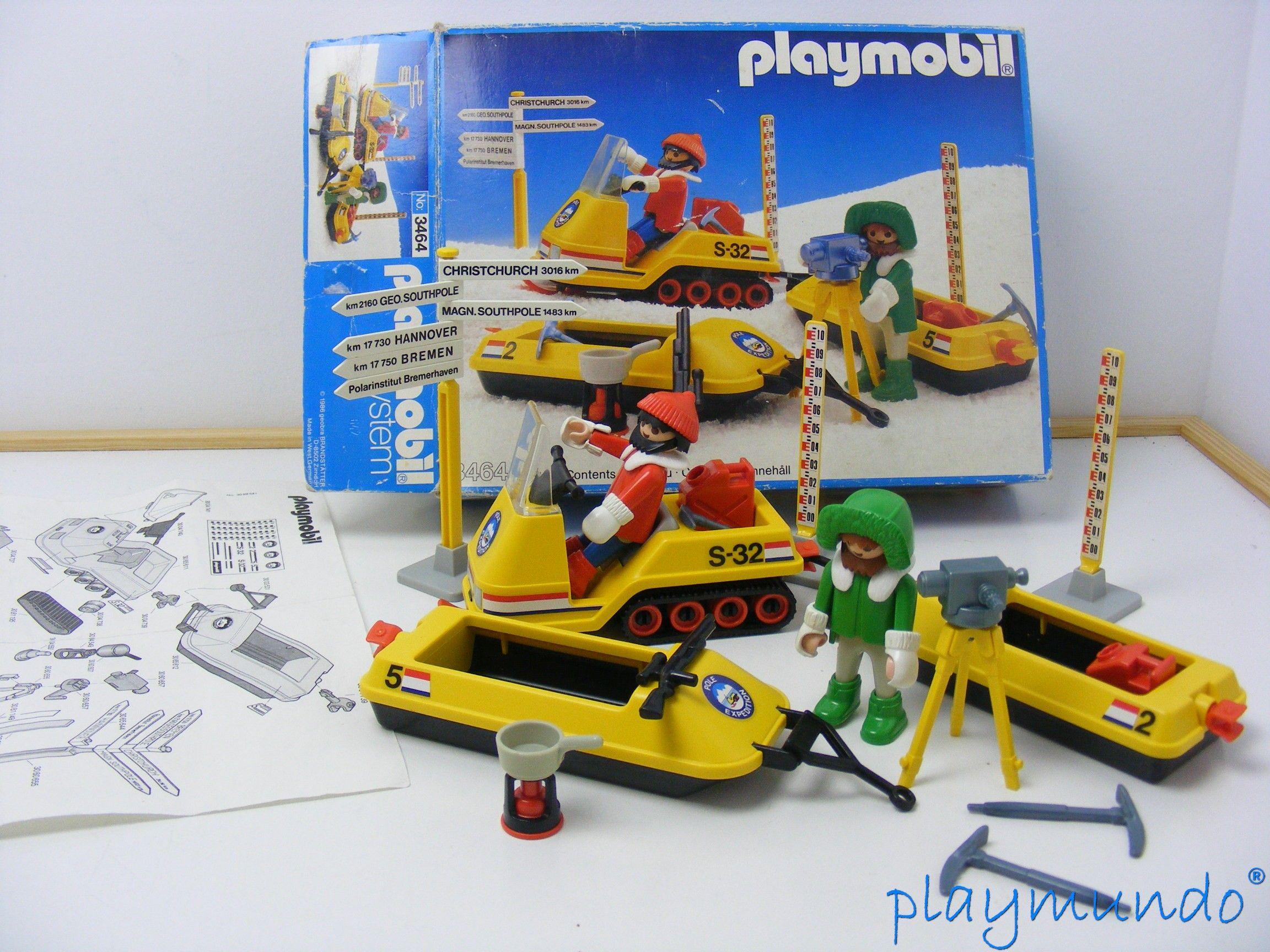 Playmobil Expedicion Polar Motonieve Ref 3464 Año 1986