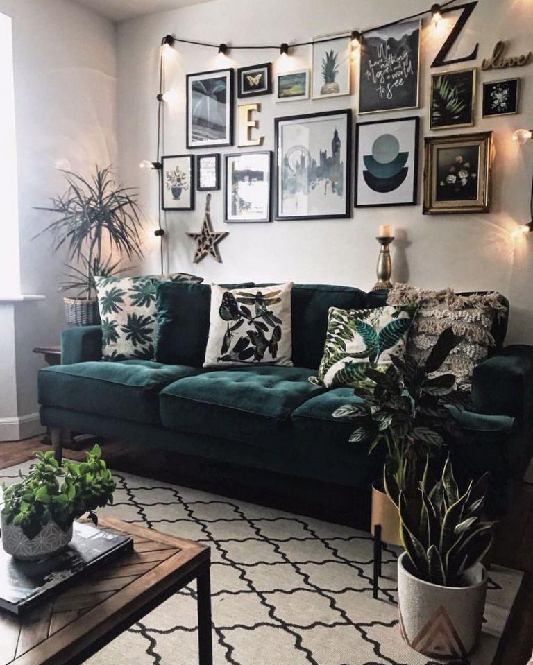 98 Beautiful Dark Green Living Room Wall Design Ideas Homydezign Com Dark Green Living Room Green Couch Living Room Green Sofa Living Room