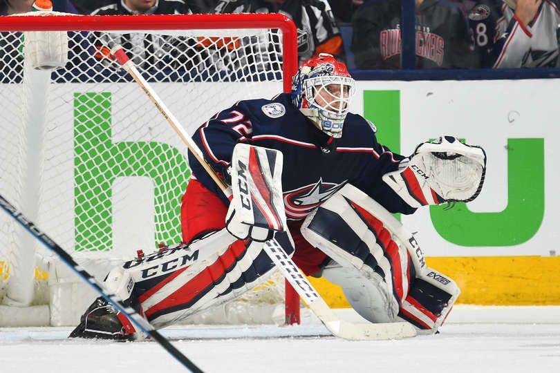 COLUMBUS, OH APRIL 17 Goaltender Sergei Bobrovsky 72
