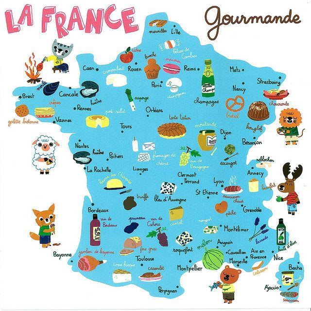 Private Swap With Sophie La France Gourmande Map Carte De France