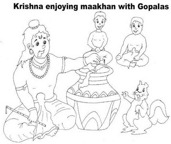 Shri Krishna- Janmashtami- Coloring -Printable- Pages- For- Kid-_12 ...