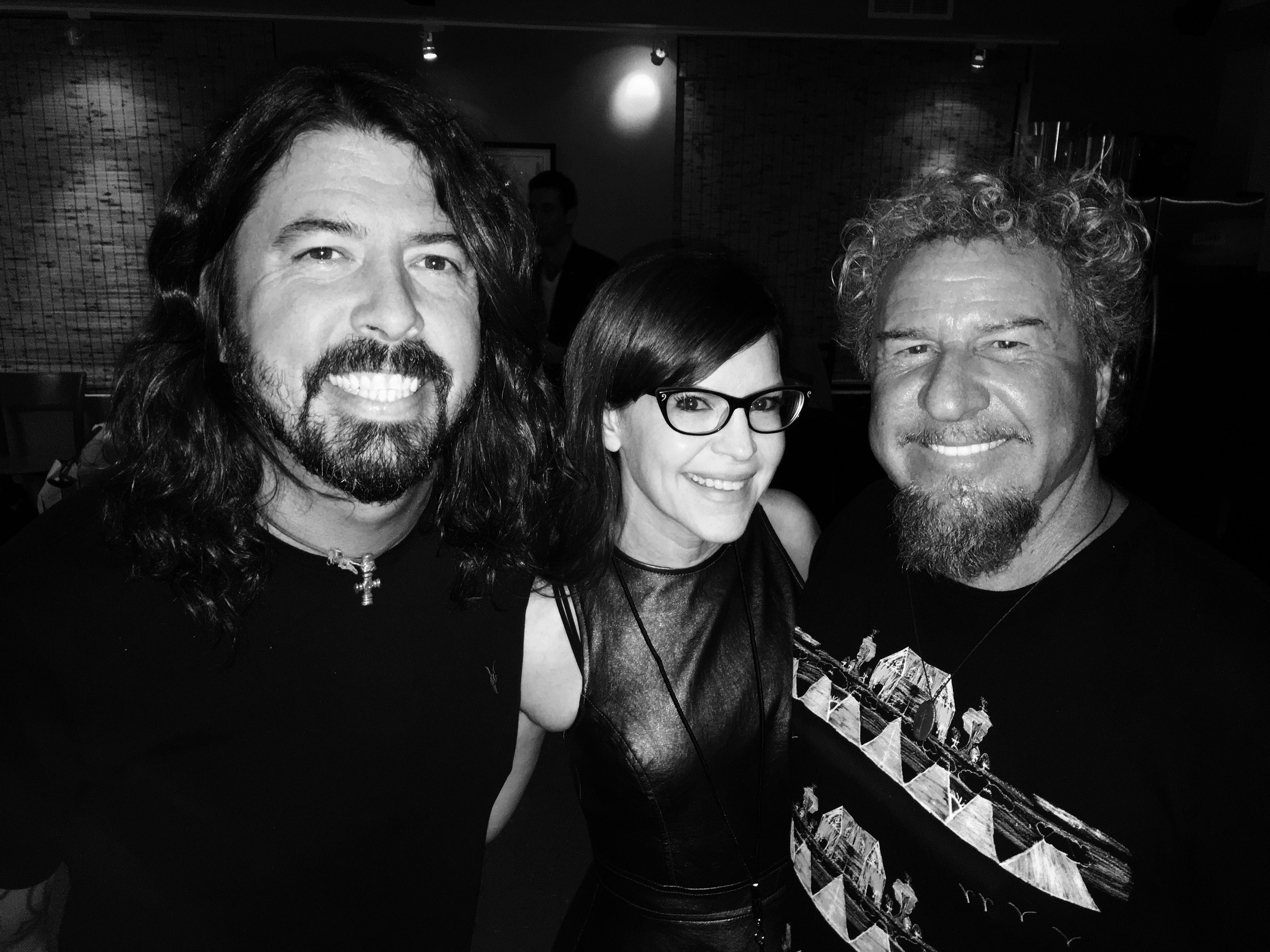 With Dave Grohl And Sammy Hagar At A Music Education Benefit In La Foo Fighters Lisa Loeb Music Photography