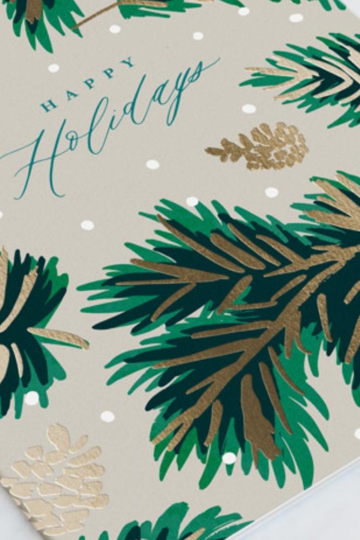 Happy Holidays Cards Design With Gold Foil Find Vintage Cards Classic Cards Elegant Textu Happy Holidays Card Design Holiday Design Card Happy Holiday Cards