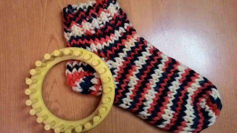 Round Loom Knit Socks Tutorial Youtube Loom Knitting Pinterest