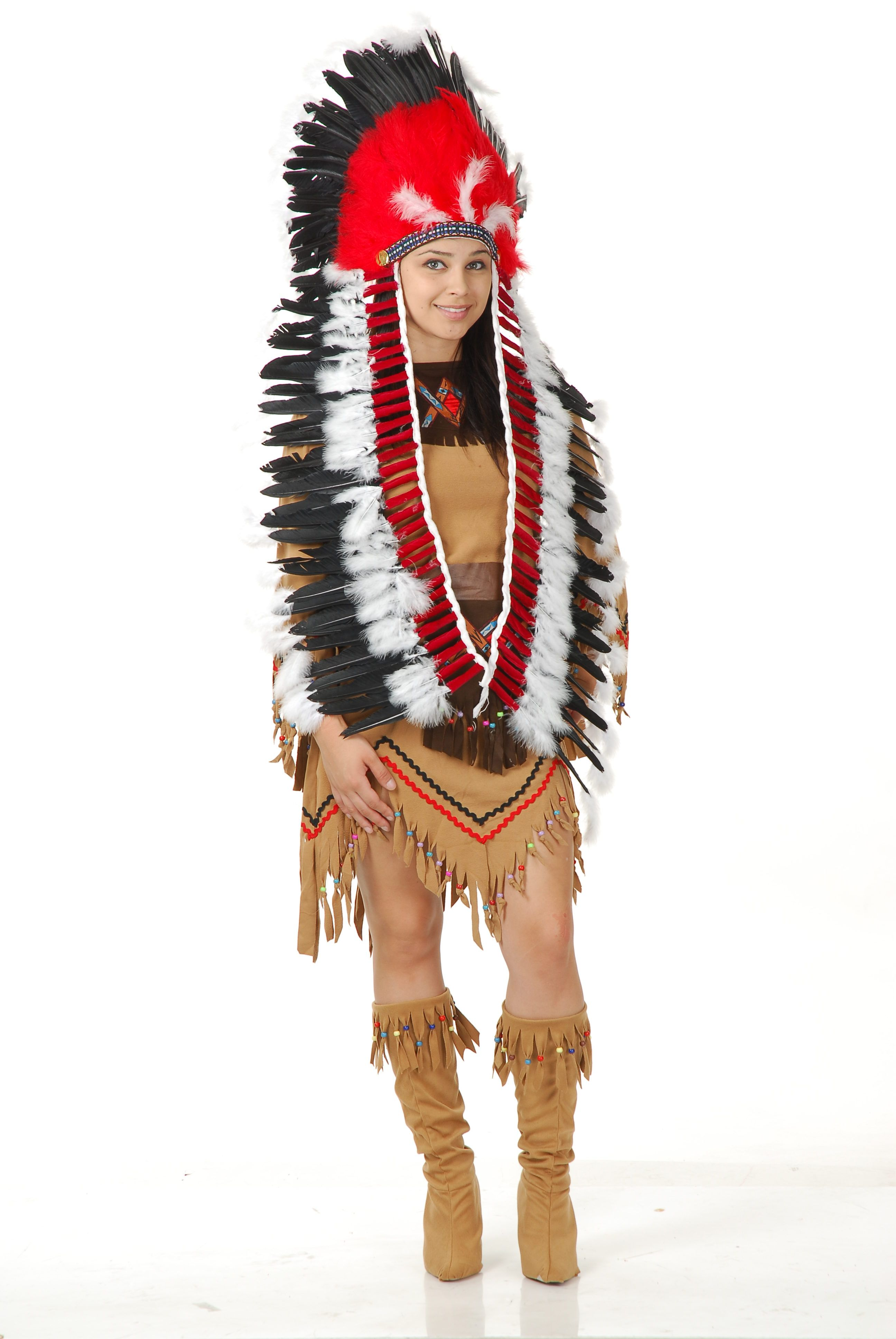 Indian Headdress with Trailer Mr. Costumes Native