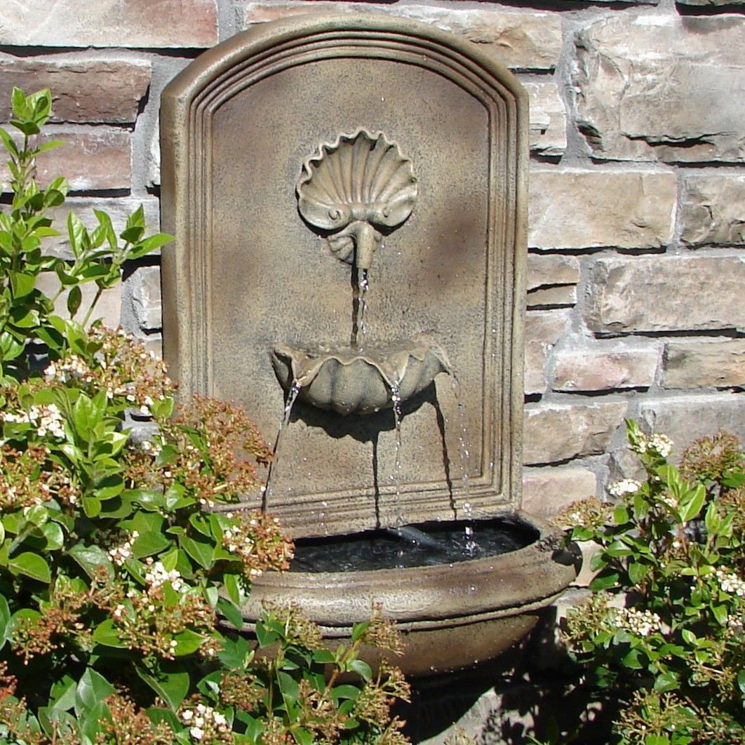 Attractive This Florentine Stone Napoli Outdoor Wall Fountain Is Certain To Become The  Center Of Attention In Your Garden Or Patio.