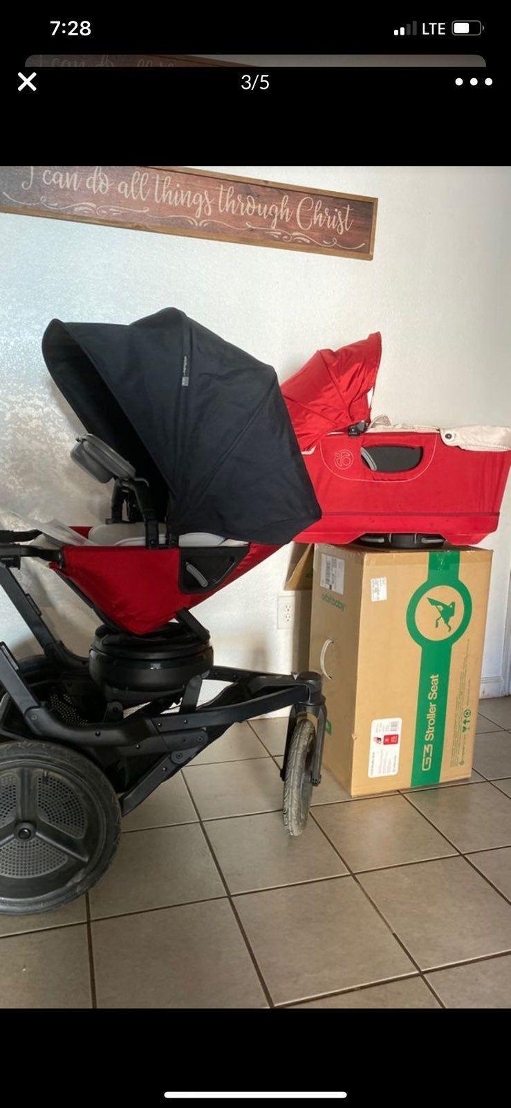Hey everybody I'm selling my Orbit baby Stroller system in