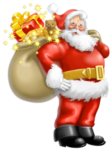 transparent santa claus with gifts png clipart holidays pinterest einfach und weihnachten. Black Bedroom Furniture Sets. Home Design Ideas