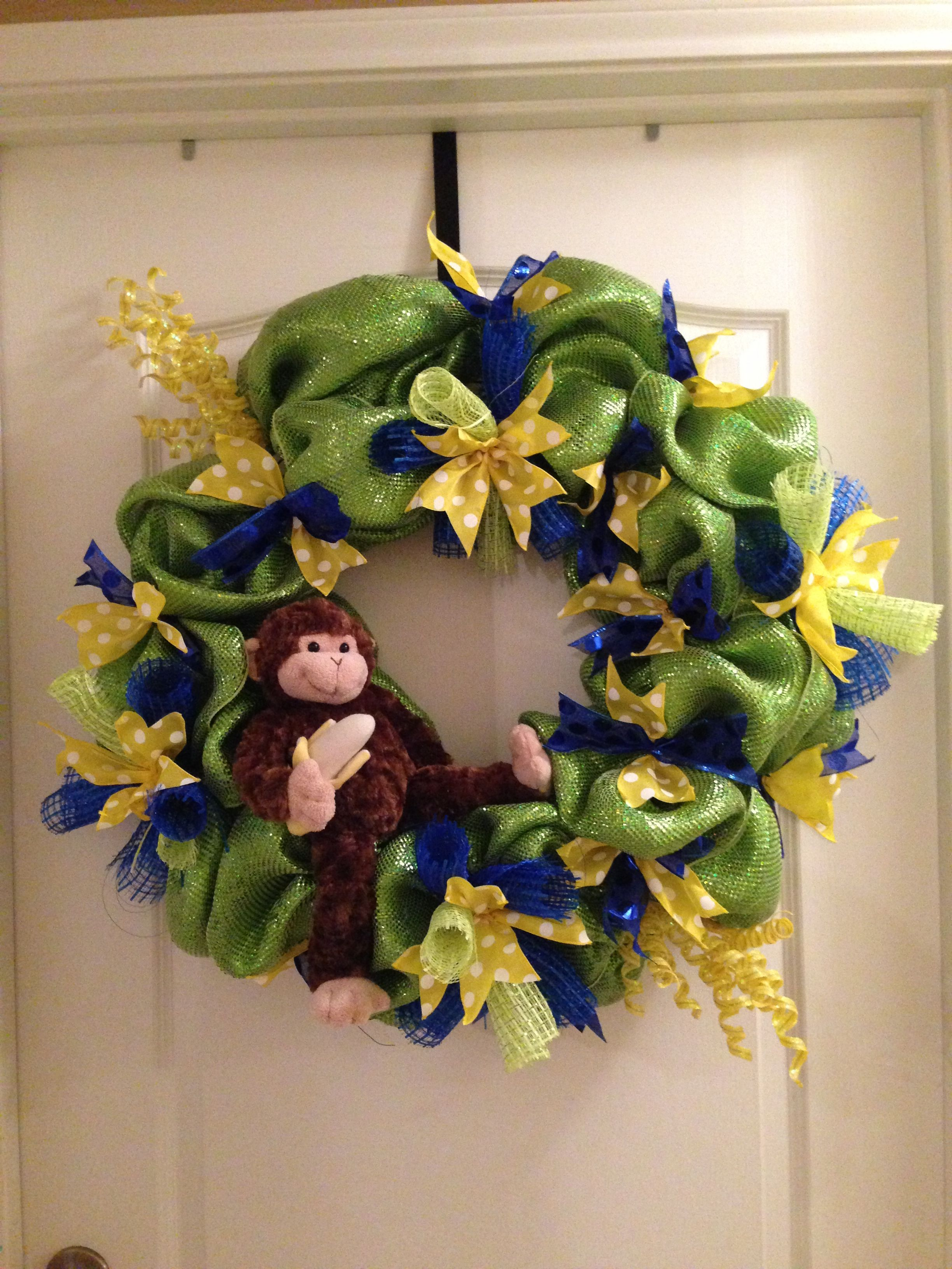 Hospital Door Wreath, For A Baby Boy, Baby Shower Theme