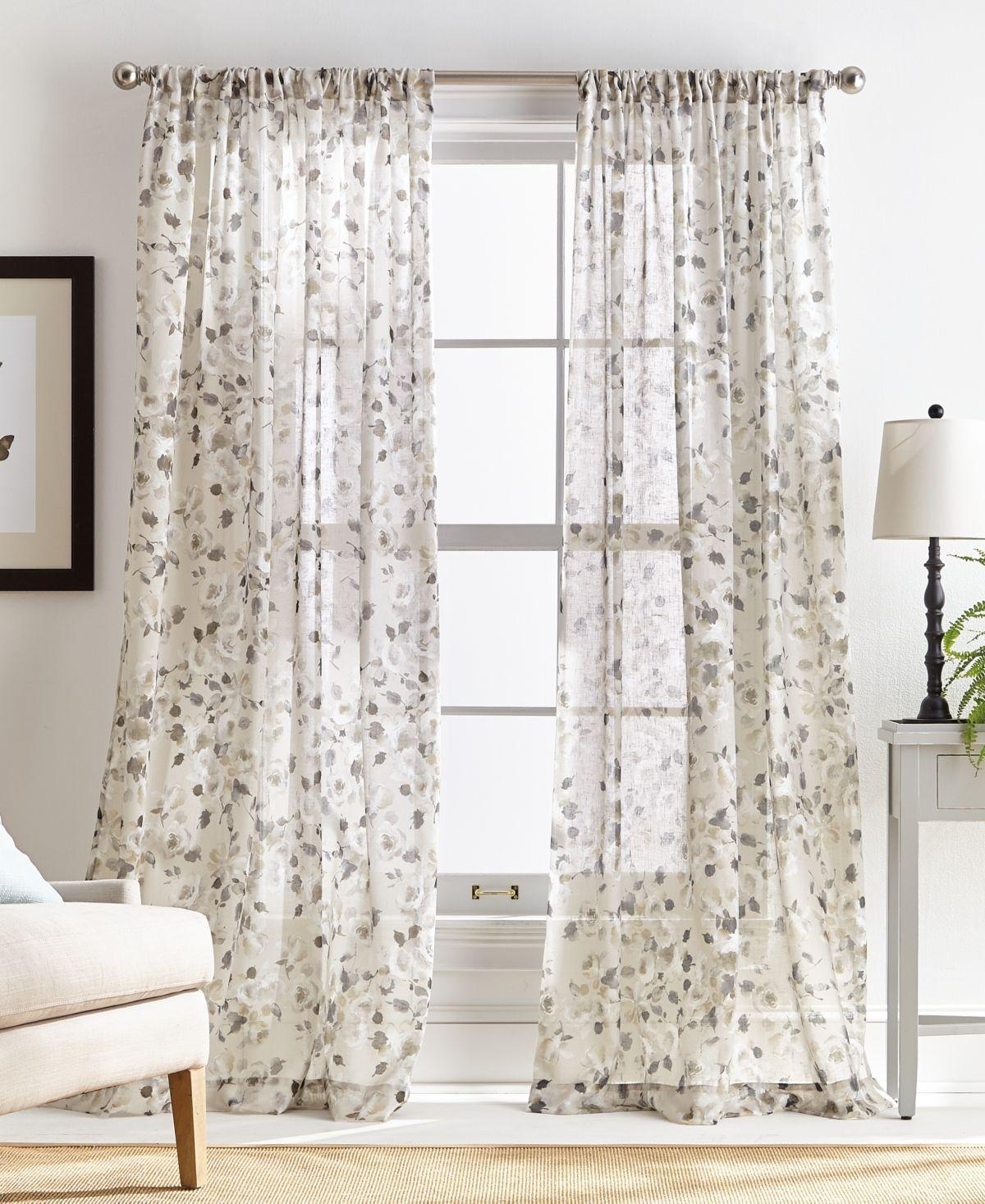 Martha Stewart Annabelle Pole Top 50 X 84 Curtain Panel Panel