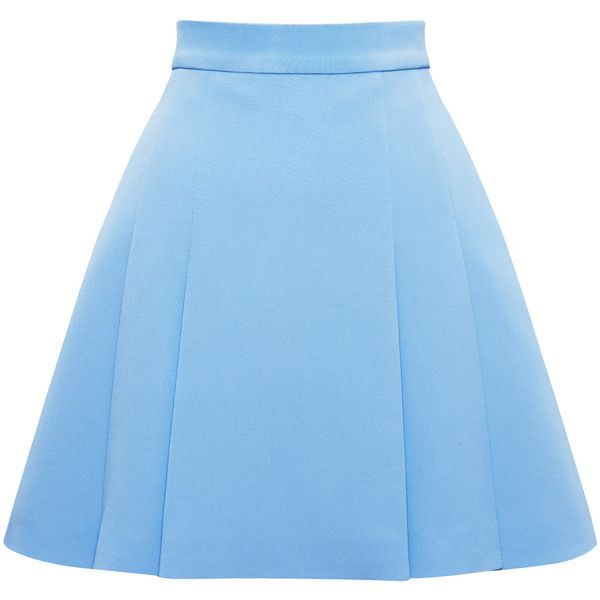 Fausto Puglisi Nanni Pleat Skirt (€575) ❤ liked on Polyvore featuring skirts, blue skirt, pleated skirt, blue pleated skirt, rayon skirt i fausto puglisi