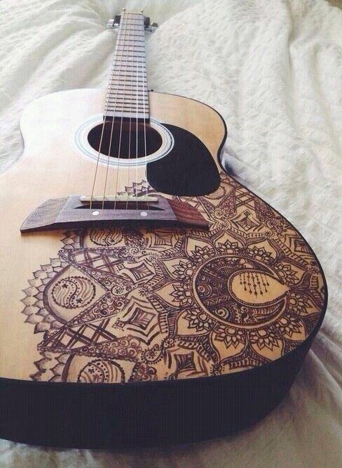 drawing tumblr art guitar painting guitar guitar art. Black Bedroom Furniture Sets. Home Design Ideas