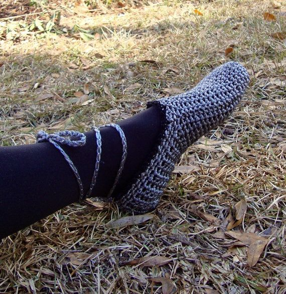 metallic crochet ballet style bedroom slippers by solefulcreations