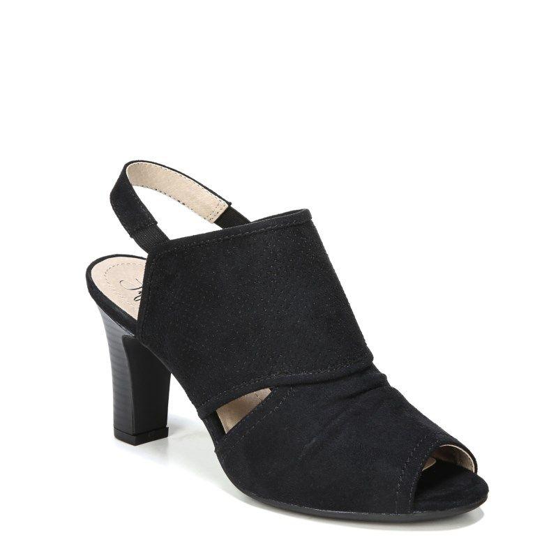 f33be8b48755 Lifestride Women s Cassia Medium Wide Peep Toe Booties (Black Micro)