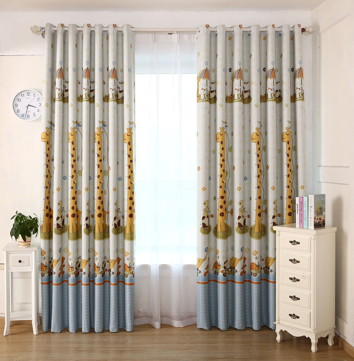 Kids Bedroom Curtains Glamorous 2017 Modern Kids Fabric Giraffe Pattern Shade Blinds Thick Window 2018