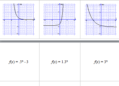 Matching graph to equation for exponential, quadratic ...