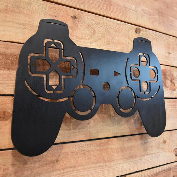 Led Lighted Playstation Controller Wall Art Video Game Art Game Room Decor Sign Ps1 Psx Ps2 Ps3 Ps4 Rgb Color Changing Led W Remote Boys Game Room Video Game Bedroom Video