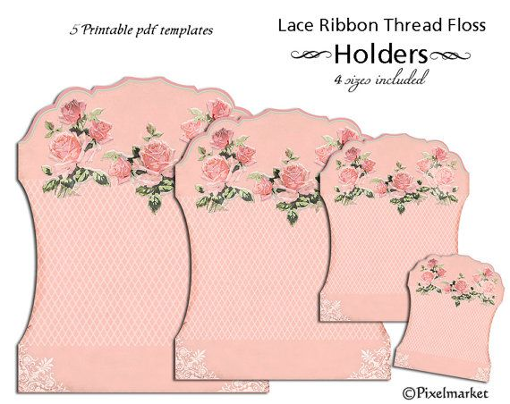 Printable Lace Ribbon Holder Sewing Cliparts Printable Template