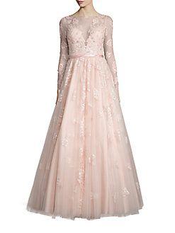 445931dc3567 Basix Black Label - Illusion Embellished Tulle Gown | Wardrobe ...