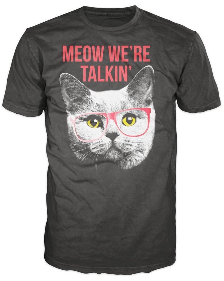 Meow We're Talking Cat Face Glasses Meme Image Adult ...