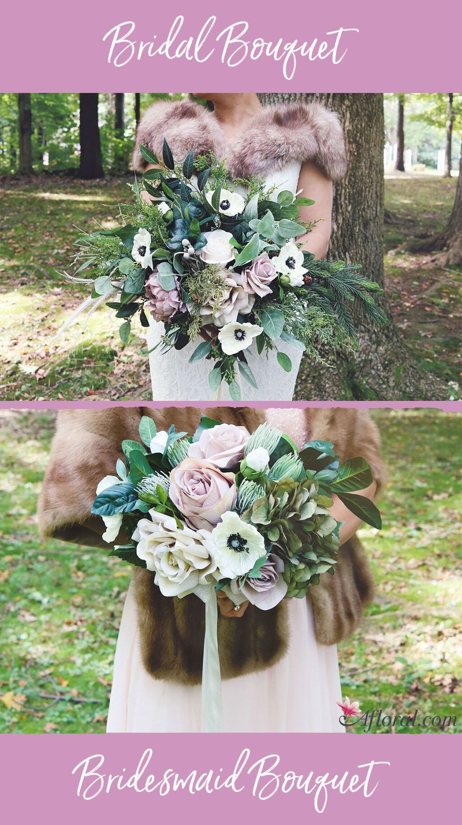 Create a romantic and beautiful bridal bouquet and bridesmaids create a romantic and beautiful bridal bouquet and bridesmaids bouquets with everlasting silk flowers from afloral izmirmasajfo Gallery