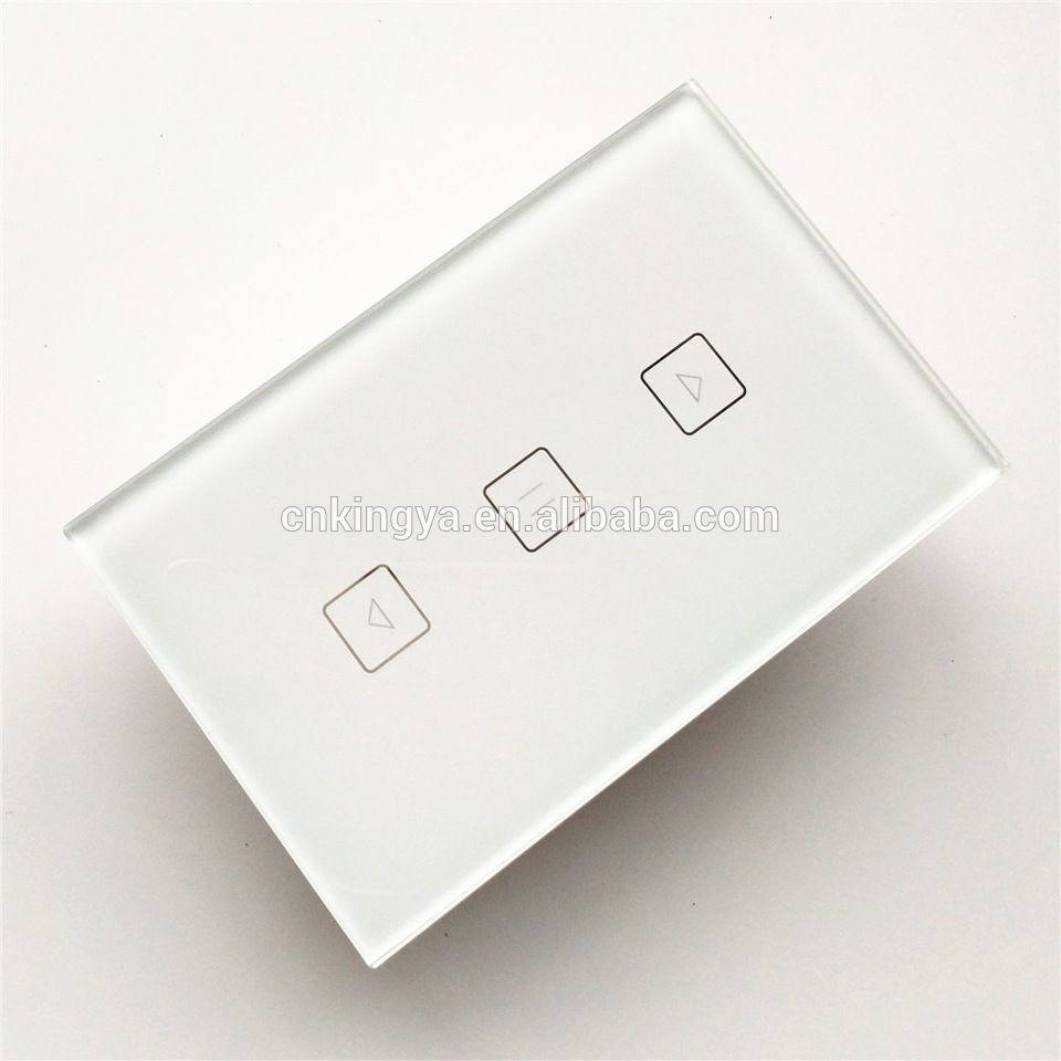 WiFi Curtian Electrical Switch Touch Glass Switch Panel with Tuya ...