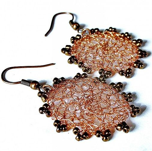 ka3na / copper wire earrings