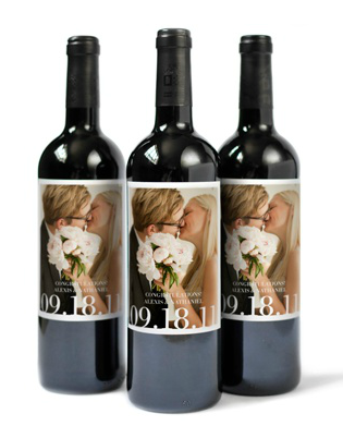 Printed Wine Labels Wedding
